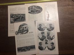 1909 DOCUMENT LES ROIS DE L AUTO THERY LANCIA NAZZARO JENATZY CLEMENT DE CATERS FARMAN - Vieux Papiers