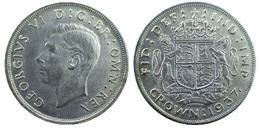 03397 GETTONE TOKEN JETON  REPRO COIN COMMEMORATIVE GEORGIUS VI CROWN 1937 COPY - Royaume-Uni