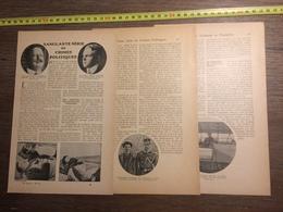 1909 DOCUMENT SANGLANTE SERIE DE CRIMES POLITIQUES - Vieux Papiers