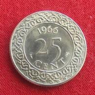 Surinam 25 Cents 1966 KM# 14  *V1 Suriname Surinão - Suriname 1975 - ...
