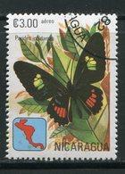 NICARAGUA- P.A Y&T N°975- Oblitéré - Butterflies