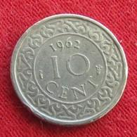 Surinam 10 Cents 1962 KM# 13  Suriname Surinão - Surinam 1975 - ...