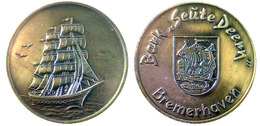 "01886 GETTONE TOKEN JETON  COMMEMORATIVE SHIP BARK ""SEUTE DEENY"" BREMERHAVEN- - Allemagne"