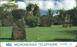 Northern Mariana Islands - NMI-MT-04, Tinian Latte Stones, Archaeology, 25,000ex, 10U, 1991, Used - Northern Mariana Islands