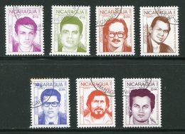 NICARAGUA- P.A Y&T N°1246 à 1252- Oblitérés - Nicaragua