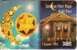 MALAYSIA(GPT) - Selamat Hari Raya 1996, CN : 52USBA, Used - Malaysia