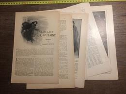 1909 DOCUMENT SECRET DU CAPITAINE NOUVELLE DE NORBERT SEVESTRE DIEPPE - Vieux Papiers