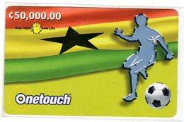 GHANA Prepayé C 50 000 ONE TOUCH AIDS FOOT - Ghana