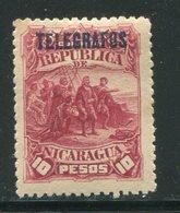 NICARAGUA- Timbre Télégraphe Y&T N°21- Neuf Avec Charnière * - Nicaragua