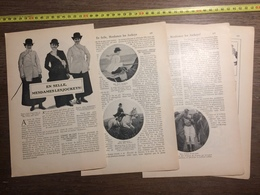 1909 DOCUMENT EN SELLE MESDAMES LES JOCKEYS KEMP MISS PITMAN LA FOIRE DE NEUILLY FALKE - Vieux Papiers