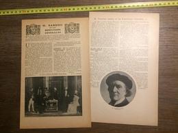 1909 DOCUMENT VICTORIEN SARDOU ET LES REPETITIONS GENERALES - Vieux Papiers