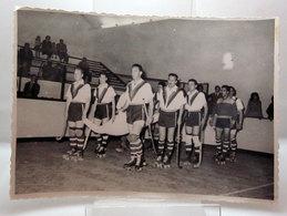 SQUADRA DI HOCKEY SU PISTA FOTO B/N VINTAGE - Sport