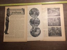 1909 DOCUMENT SI L UNIVERS MANQUAIT DE PAPIER MACHINE A CALENDRER - Vieux Papiers
