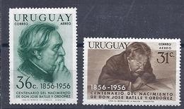 180030903  URUGUAY YVERT  AEREO  Nº   155/6  */MH - Uruguay