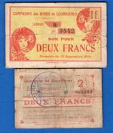 Courriere  62       2  Billets   Dans  L'etat - Bons & Nécessité