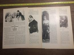 1909 DOCUMENT LA TENTATION DE SAMUEL BURGE HUARD - Vieux Papiers