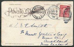USA Territory Of HAWAII 1905 Honolulu Pmk Postcard Shores Of Waikiki PPC > Auckland New Zealand - Hawaii