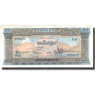 Billet, Cambodge, 50 Riels, UNDATED (1956-75), KM:7d, SUP+ - Cambodge