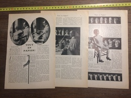 1909 DOCUMENT TOUT EN PAPIER MOULAGES TETES DE MANNEQUIN - Vieux Papiers