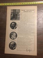 1909 DOCUMENT IMMORTELS FRANCIS CHARMES MARCELIN BERTHELOT NOS BONS COCHERS CADEL - Vieux Papiers
