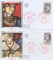 France 1979 FDC Surtax For Red Cross Stained Glass Windows Of St Joan Of Arc Church In Rouen - Vetri & Vetrate