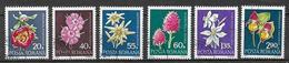 ROMANIA 1972 FIORI RARI YVERT. 2682-2687 USATA VF - 1948-.... Republics