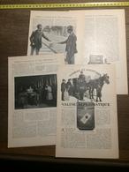 1909 DOCUMENT VOYAGES ET AVENTURES DE LA VALISE DIPLOMATIQUE - Old Paper