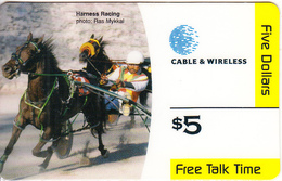 BERMUDA ISL. - Harness Racing, C & W Prepaid Card $5, Used - Bermuda