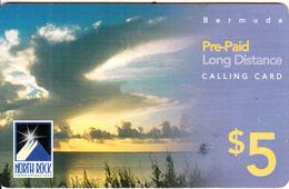 BERMUDA ISL. - Sunset, North Rock Prepaid Card $5, 03/04, Used - Bermuda