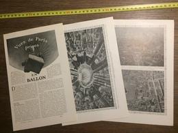 1909 DOCUMENT VUES DE PARIS PRISES EN BALLON - Old Paper