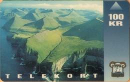 Faroe Isl. - FO-FOT-0003, Ambadalur, Landscapes, 100 Kr, 10,000ex, 3/93, Used - Faroe Islands