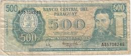 Paraguay 500 Guaranies 1982 Pick 206a Ref 1 - Paraguay