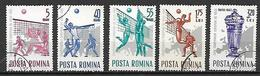 ROMANIA   1963  CAMPIONATO D'EUROPA DI PALLAVOLO YVERT. 1937-1941 USATA VF - 1948-.... Republics