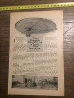 1909 DOCUMENT LE PLANEUR CAPAZZA S ELEVE DANS LES AIRS - Old Paper