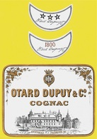 Etiquette + 2 Colliers COGNAC OTARD DUPUY & Co - Château François 1er *** 16 Charente - Etiquettes
