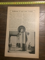 1909 DOCUMENT GUILLAUME 2 II PART POUR CORFOU - Old Paper