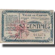 France, Carvin, 50 Centimes, 1915, NEUF - Bons & Nécessité