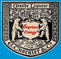 """Etiquette Grande Liqueur """"Suprême Orange"""" A. CUSENIER & Co *** 25 ORNANS Doubs ** Ours Bear - Etiquettes"""