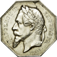 France, Jeton, Napoléon III, Notaires De L'Arrondissement De Clamecy, Nièvre - France