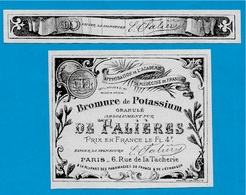 Etiquette + Collier - Bromure De Potassium DE FALIERES Rue De La Tacherie 75004 PARIS (Pharmacie Photographie) - Labels