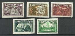 LETTLAND Latvia 1932 Michel 193 - 197 B * - Latvia