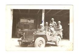FO--00045-- FOTO ORIGINALE - AUTO JEEP WILLYS MB DEL 1944-MILITARI ITALIANI - Automobili