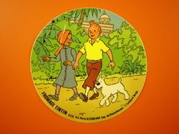 Autocollant BD Tintin Et Milou De Hergé (Fromage Tintin) - Autocollants