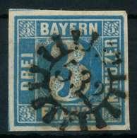 BAYERN QUADRATE Nr 2II GMR 532 Zentrisch Gestempelt X883FBE - Bavière