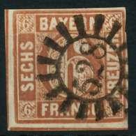 BAYERN QUADRATE Nr 4II GMR 528 Zentrisch Gestempelt X883FCE - Bavière
