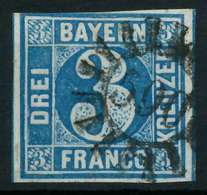 BAYERN QUADRATE Nr 2II GMR 590 Zentrisch Gestempelt X8841EA - Bayern