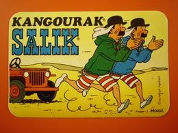 Autocollant BD Dupond/t De Hergé Amis De Tintin Marque Salik De 8,8/13Cms - Autocollants