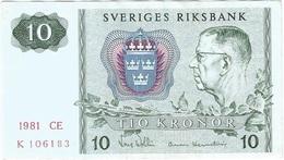 Suecia - Sweden 10 Kronor 1981 Pick 52e.2 Ref 6 - Suède