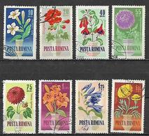 ROMANIA   1964 FIORI COLTIVAZIONI DIVERSE YVERT. 1993-2000 USATA VF - 1948-.... Republics