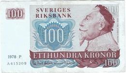 Suecia - Sweden 100 Kronor 1978 Pick 54c Ref 8 - Suède